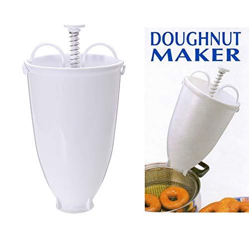 Vovotrade Kunststoff Donut Maker Maschine Form DIY Werkzeug Küche Gebäck Backformen (Weiß)