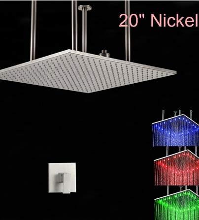 Groß-und Einzelhandel LED-Farben ändern Nickel gebürstet 20