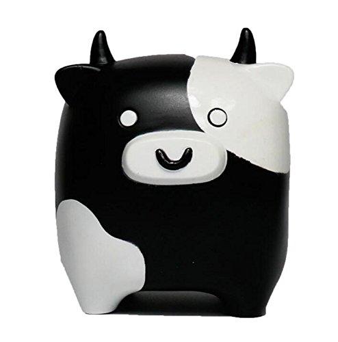 Banco de Dinero de Viaje Piggy Box Cow Piggy Lovely Vinyl Adornos niños (Negro y Blanco)
