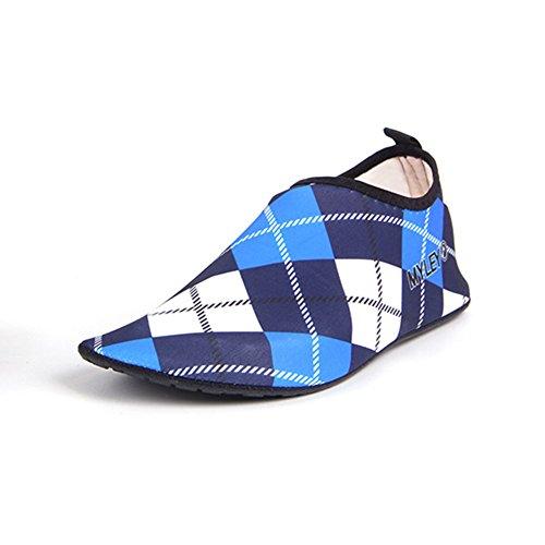 Neeiors Grid Style griglia pieghevole acqua nuoto spiaggia scarpe per uomini e donne Blue