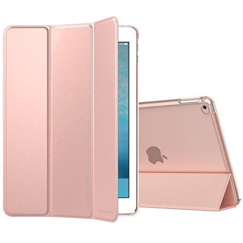 TiMOVO Hülle für Apple iPad Air 2, PU Leder Tasche Schale Smart Case mit Translucent Rücken Deckel, mit Auto Schlaf/Wach Funktion und Standfunktion für Apple iPad Air 2 Retina Display 2014 Release, Rose Gold