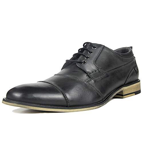 MERRYHE Männer Lace Up Formelle Kleid Schuhe Full Grain Leder Arbeit Utility Schuhe Smart Derby Business Party Hochzeit Schuh,Black-US13(EU46) Full-grain Schuhe