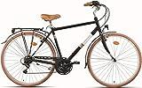28 Zoll Herren City Fahrrad 7 Gang Montana Streetland, Farbe:Schwarz