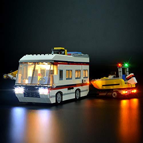 LIGHTAILING Conjunto de Luces (Creator Caravana De Vacaciones) Modelo de Construcción de Bloques - Kit de luz LED Compatible con Lego 31052 (NO Incluido en el Modelo)