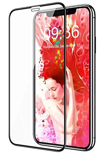 Bovon Verre Trempé pour iPhone 11 Pro, [Cadre d'Installation Facile] [sans Bulles] [9H Dureté] [Anti-Rayures] 3D Couverture Complète Film Protection Écran pour iPhone 11 Pro 5.8 Pouces (2019)