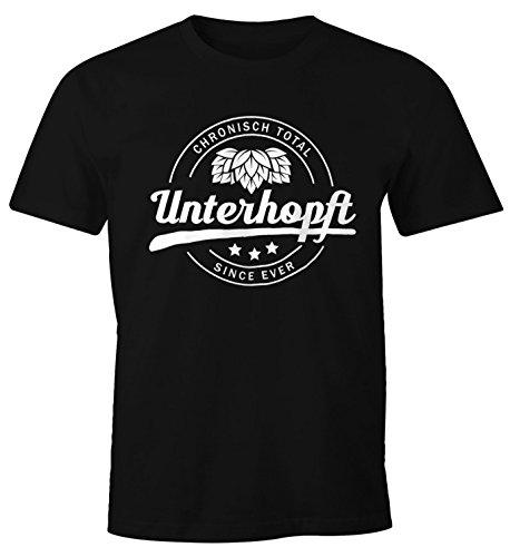MoonWorks Chronisch Unterhopft Total Herren T-Shirt Since Ever Fun-Shirt Schwarz L (Lustige Strand T-shirt)