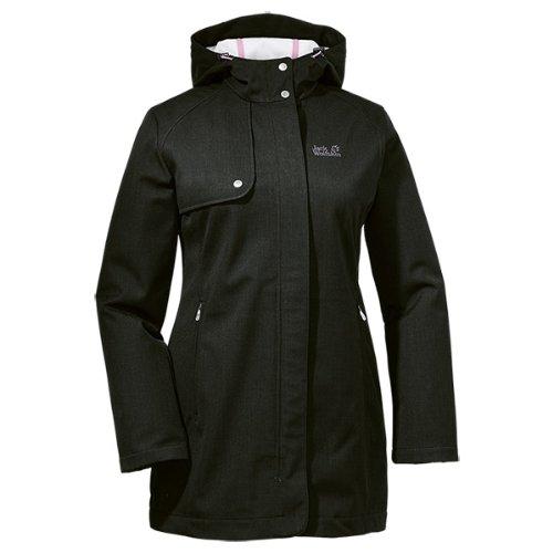 Jack Wolfskin Damen Mantel Harding Coat Women, Black, XS, 1302361-6000001