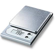 Beurer KS 22 - Balanza de cocina, medición 3 kg/1 gr, plataforma