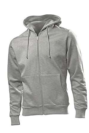 Hanes Beefy Hooded Jacket Grey Heather,XXL XXL,Hellgrau