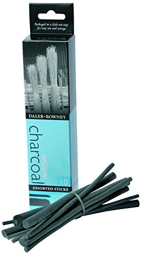 Daler-Rowney 86650139 - Carboncini da disegno Artists, 3-9 mm - Crea Disegno Carbone