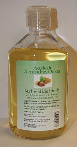 Almendras Dulces (Aceite 1ª presión frío) 100% 500 ml / Pelo Piel