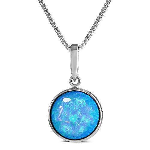 vibrant-blue-opal-pendant-sterling-silver-with-round-12mm-cultured-opal