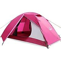 Doppelstock Outdoor-Zelt Campingausrüstung mehr als vier Jahreszeiten Set Ultraleicht-Strandzelt 3-4 Personen eine Vielzahl von Farben zur Auswahl