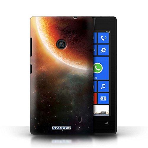 Kobalt® Imprimé Etui / Coque pour Nokia Lumia 520 / Planète Jaune conception / Série Cosmos Éclipse Orange