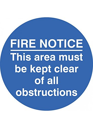 Caledonia Signs 58805 Fire Notice This Area, Floor Graphic Label 400 mm Durchmesser