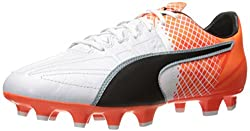 PUMA Men s Evospeed 3.5 Lth FG Soccer Shoe Puma White/Puma Black 8.5 D(M) US