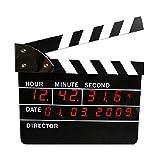 DW HCKK M&T Wunderbarer Film Klappe Mute Wanduhr Stunden LED elektronische Uhren Kalender