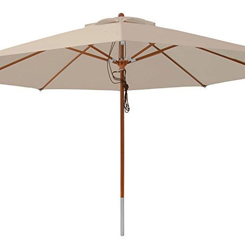 anndora® Sonnenschirm Marktschirm Gastronomie ø 4 m rund - mit Winddach Dark Natural