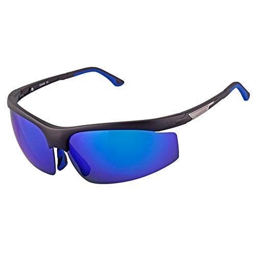 Inbike Gafas de Ciclismo, Gafas de Sol Hombre Polarizadas UV400 Protección(XQ445, Negro&Azul)