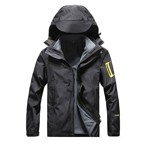 ➤Refill➤Herren Regen Jacke Outdoor Rain Freizeitjacke Kapuze Regenjacke Windbreaker Zipper Übergangsjacke Outdoor Funktionsjacke Winterparka