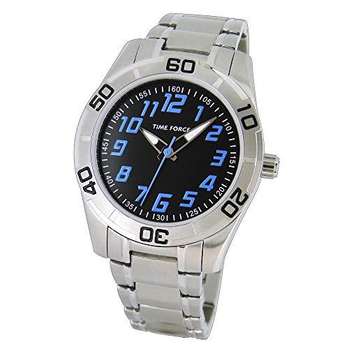 Time Force Reloj Analógico para Niños de Cuarzo con Correa en Acero Inoxidable TF4134B01M