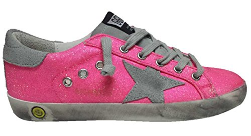 GOLDEN GOOSE SUPERSTAR LOW TOP SNEAKERS CYCLAMINE GREY