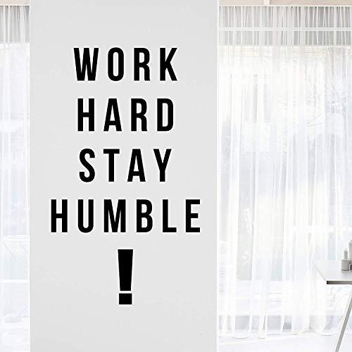 Decalcomania da parete motivazionale con scritta in inglese work hard stay humble, motivata, concentrata, positiva, decorazione per ufficio, parole e incoraggiamento, idea regalo, 76,2 x 43,2 cm