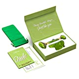 Certified Jade Roller For Skin Care - 100% Natural and Premium Quality - Anti Aging Facial Massage Roller with Gua Sha Stone Scrapping Tool - Rejuvenates Face Skin and Diminishes Double Chin & Wrinkle