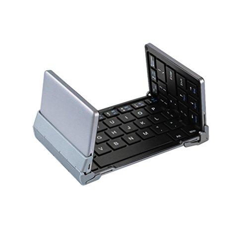 Bescita Wireless Tastatur, faltbare Tastatur Bluetooth Tastatur Gaming Keyboard für iOS/Windows, extrem dünn und leicht