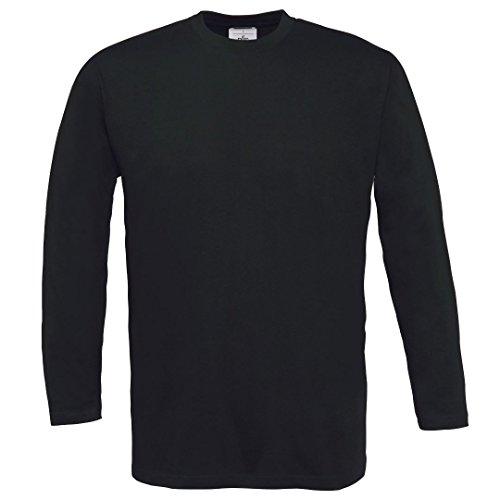 B & C Collection – Maglietta sportiva 150 a maniche lunghe Black*