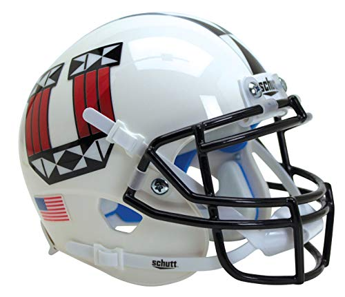 Schutt NCAA Minihelm Utah Utes, Unisex, NCAA Utah Utes Mini Authentic XP Football Helmet, ALT 17, Mini