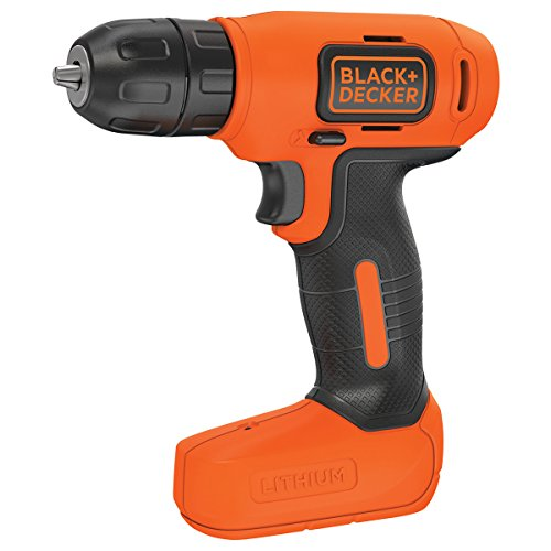 Black and Decker BDCD8 QW   Taladro atornillador sin cable  batería 1.5 Ah  7.2 V  color negro y naranja