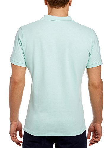 oodji Ultra Herren Pique-Poloshirt Grün (6C00N)