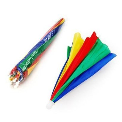 Hut mit Sonnenschirm, Regenschirm, Mehrfarbig