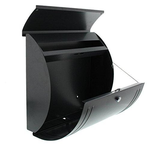 BURG-WÄCHTER, Briefkasten mit Öffnungsstopp, A4 Einwurf-Format, Verzinkter Stahl, Modena 857 ANT, Anthrazit - 5