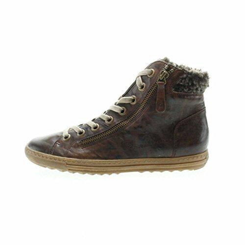Paul Green 4321-011 Damen Sneaker Aus Glattleder Warmes Innenfutter Aus Textil Tabak/Brown