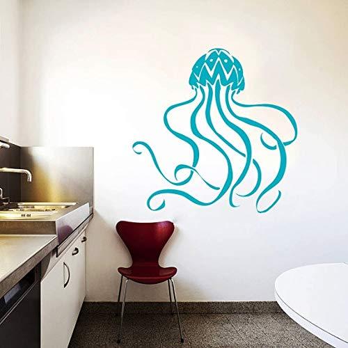 Tiefsee-Öl (Tiefsee Meerestiere Wandtattoos Quallen Muster Art Cute Design Wandaufkleber Fashion Style Home Schlafzimmer Dekor 97x97cm)