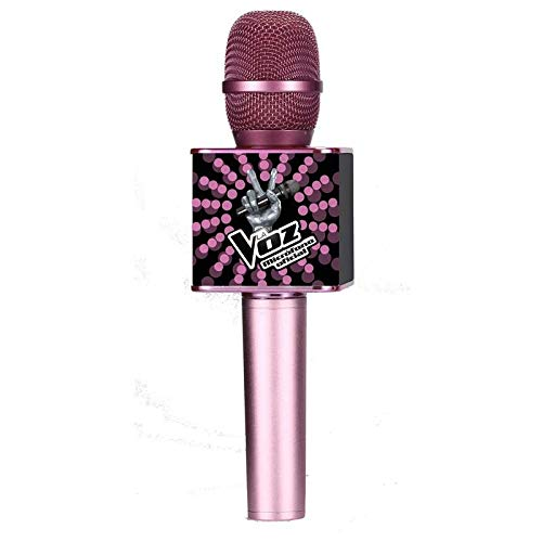 Toy Lab Micrófono Karaoke Oficial La Voz Rosa y Negro, color (RS412002)
