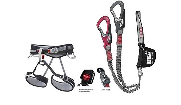 Klettersteigset Größe : Klettersteigset lacd comfort kletter und klettersteiggurt