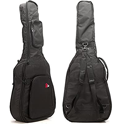 Rio 4/4 Acoustic Guitar Dreadnought 10mm Padded Bag Carry Case Cover Gigbag - New - acoustic-guitar-cases, musician-bags