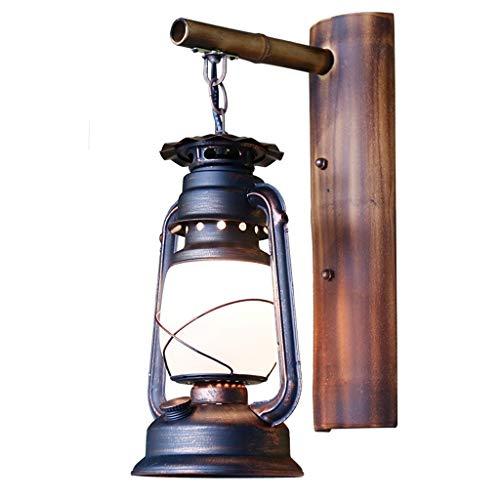 SLH Lampe de mur américaine rétro lampe kérosène Creative chambre escalier lampe de mur en bambou