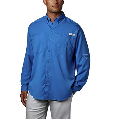 Tamiami Angeln Shirt (Columbia Tamiami II L/S M Lebhaftes Blau)