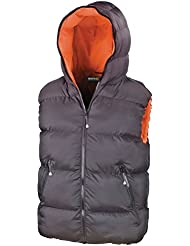 Regatta de hombre X-Pro profesional impermeable y aislante con capucha chaleco acolchado para mujer chaleco–gris oscuro, hombre, color gris, tamaño S