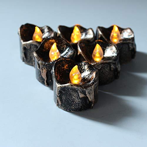 wangZJ führte elektronisches Kerzenlicht/elektronische schwarze Kerze Halloweens 12 Satz/LED/Weihnachtsdekoration/kühlen weißen Blitz