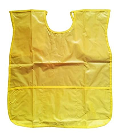 YELLOW Sleeveless Kids Fun Painting Paint Play Apron Wipe Clean Waterproof Protect Clothing - Ideal for use at Home & School Smock / Pinny by Concept4u