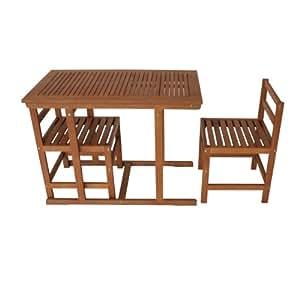 gartenmoebel einkauf tosca ensemble table de jardin et 2 chaises en eucalyptus huil 100 x 55 cm. Black Bedroom Furniture Sets. Home Design Ideas