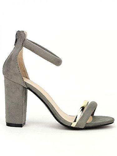 Cendriyon, Sandale Grise Simili peau CINK ME Chaussures Femme Gris