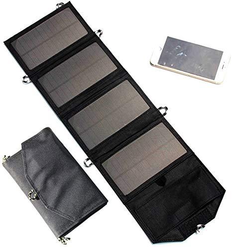 JAYLONG 7W Faltbare Solar-Panel, Tragbare 5V-Sicherheits-Solar-Ladegeräte Für Outdoor-Handys Aufladen Und Andere Moblie-Geräte,Black - Portable-rv-generator
