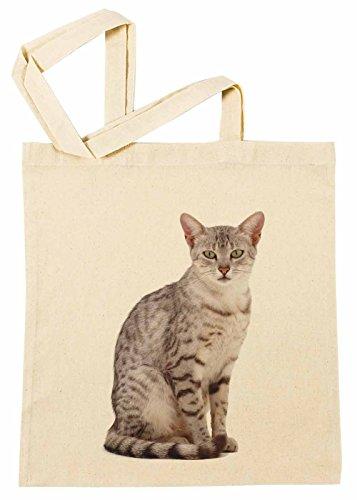 Ägyptisch Mau Katze Rasse Einkaufstasche Wiederverwendbar Strand Baumwoll Shopping Bag Beach (Kleid Ägyptischen)