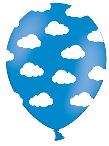 6 Luftballons WOLKEN Kindergeburtstag Geburtstag Mottoparty Dekoration (Flugzeug-party Dekorationen)